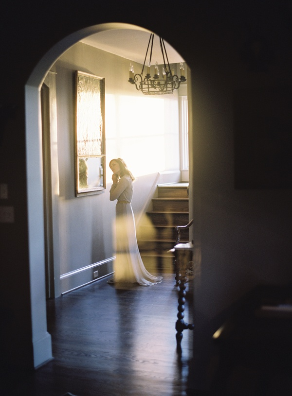 gray wedding dress via once wed // photo by rylee hitchner