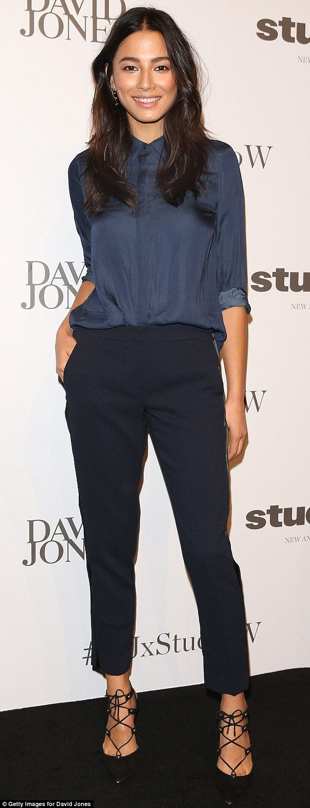 Putting her best foot forward: Jessica Gomes attended the Studio. W launch at David Jones'...