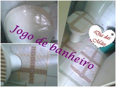 Jogo de banheiro -  passo a passo- (july artesanatos)