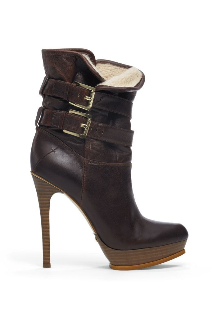fall 2012, Michael Kors, shoes, boots + booties, brown