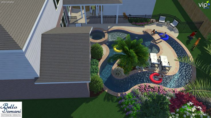 Lazy river in small yard.