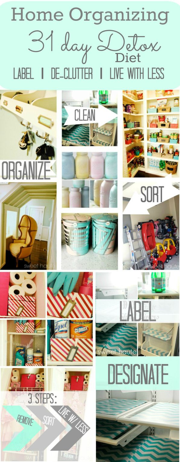 Home Organizing 31 Day Detox Live with Less- SWEET HAUTE
