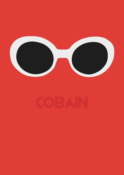 Cobain, Kurt Art Print. Those famous white sunglasses.