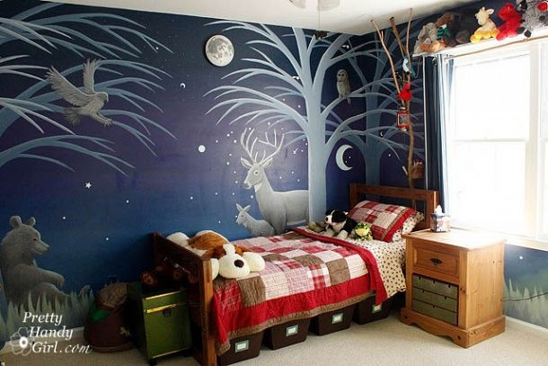 Camping Themed Boy's Bedroom