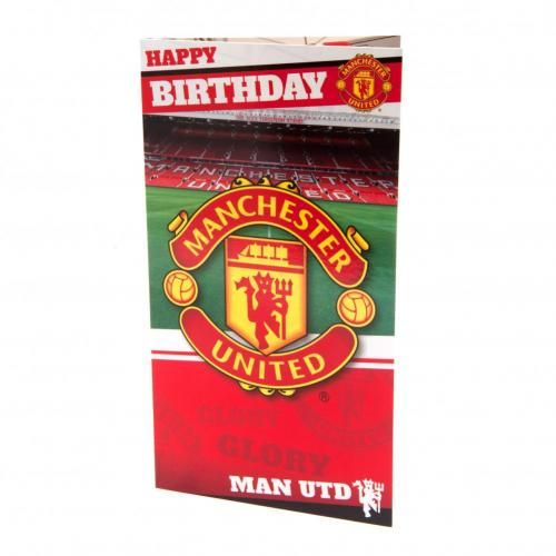 Manchester United FC Birthday Card Stadium