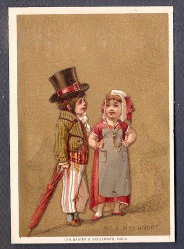 MR MME Angot Operette Opera Chromo A ST Jacques Trade Card