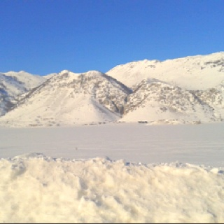The incredibly frozen Lago Matese, march 2012