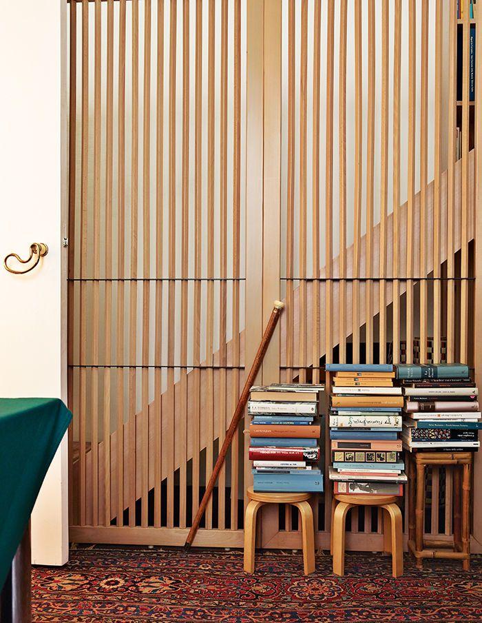 Books stacked on Alvar Aaltos stool 60's.