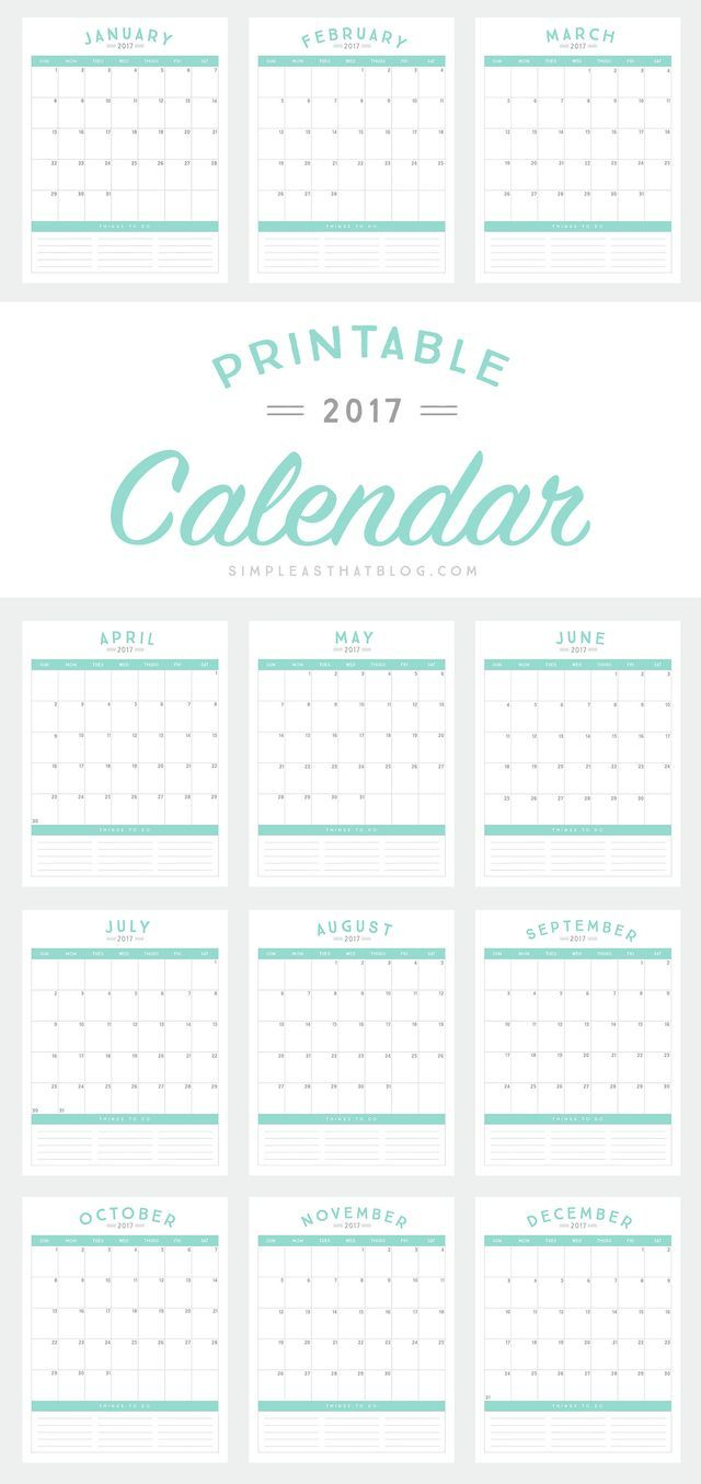 usable calendar template - kick off the school year with a fresh start and a cute new