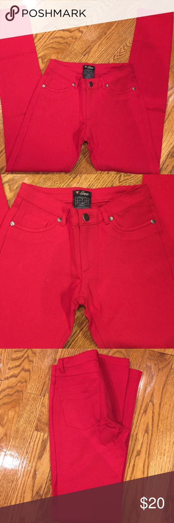 Guess Red skinny paints Red skinny pants Guess Pants Skinny
