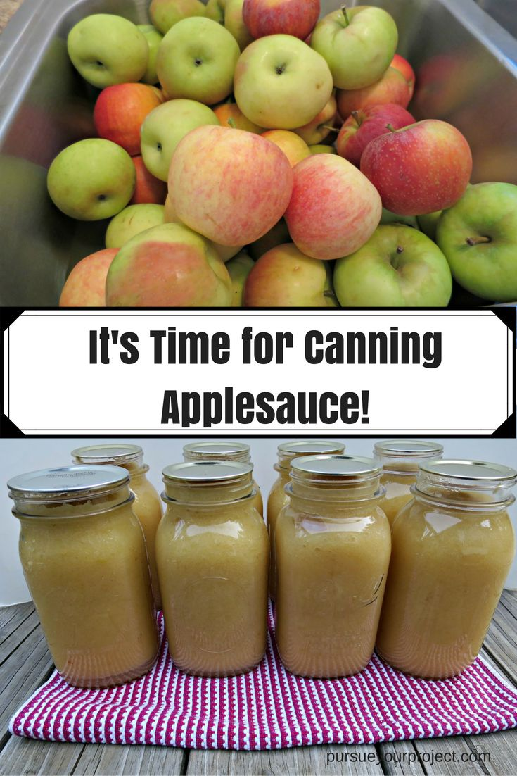 Instructions for making and canning applesauce. Start with fresh orchard apples…