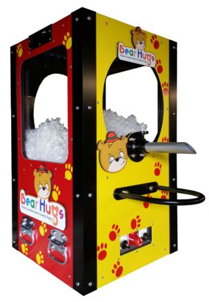 Our unique teddy bear stuffing machine.  We call it the HugFiller.  When it comes to teddy bears, There Is Some Love In Every Hug.