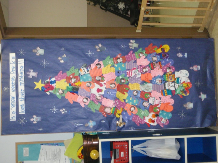 mitten tree...door decorating contest | Bulletin Boards ...