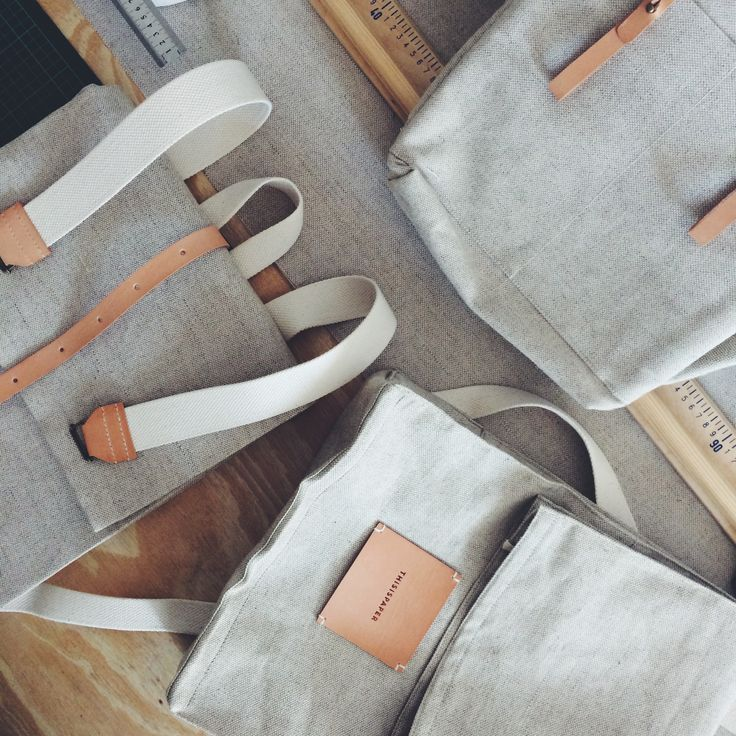 All in linen. - http://thisispapershop.com/collections/bags-rucksacks