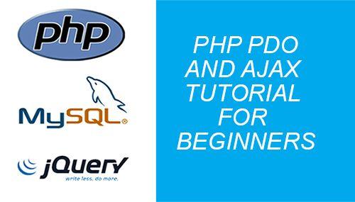 php pdo ajax jquery example