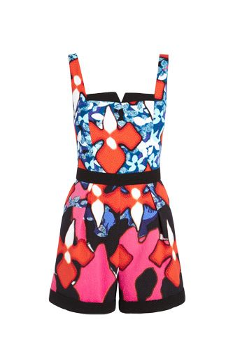 The Entire Peter Pilotto For Target Lookbook Is Out! #refinery29  http://www.refinery29.com/2014/01/60646/peter-pilotto-target-lookbook#slide13  Peter Pilotto for Target Romper in Red Iris Print, $49.99.