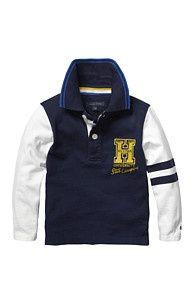 Hi School Mini Chemise Polo En Jersey - 002 - Hauts, de Tommy Hilfiger