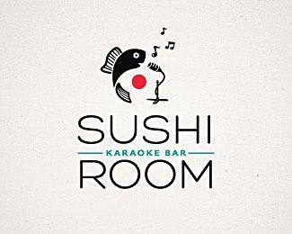 Sushi bar karaoke Logo Design   More Inspiration http://blog.logoswish.com/category/inspiration/