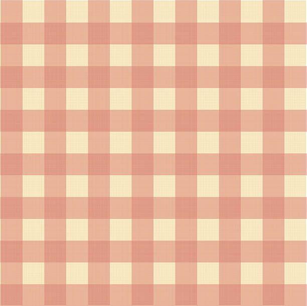 Wzór w szkocką kratę na tkanina tekstura płótna – artystyczna grafika wektorowa