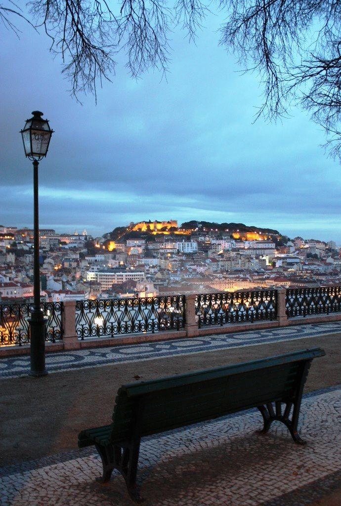 Miradouro junto ao Príncipe Real, Lisboa.