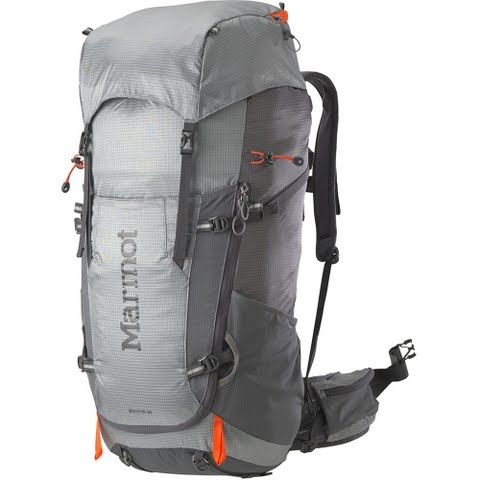 Marmot Graviton 38 Internal Frame Pack - Steel / Cinder: Made with durable fabric and a comfortable… #OutdoorGear #Camping #Hiking