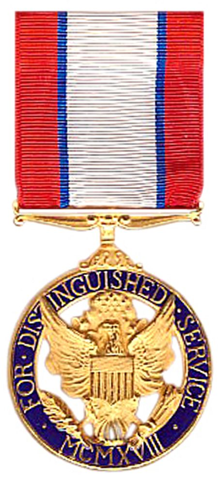 The Distinguished Service Medal (DSM) is a military award of the United States Army that is presented to any person who, while serving in any capacity with the United States military, has distinguished himself or herself by exceptionally meritorious service to the Government in a duty of great responsibility. The performance must be such as to merit recognition for service that is clearly exceptional. Exceptional performance of normal duty will not alone justify an award of this decoration
