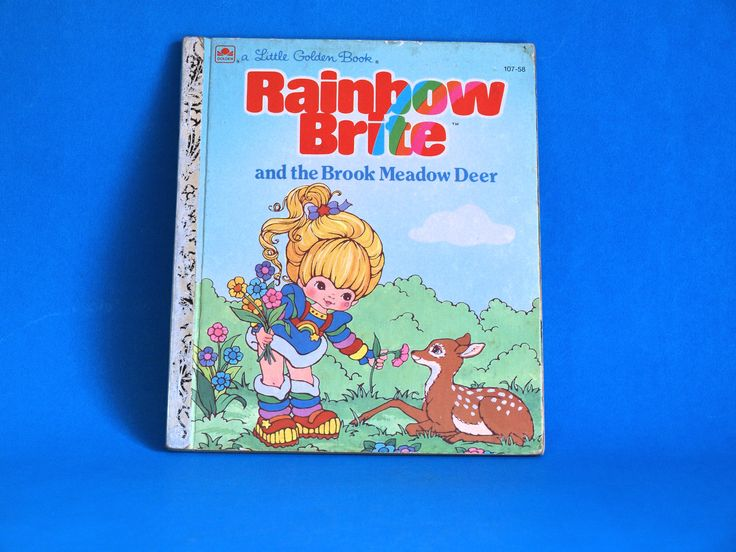 Rainbow Brite And The Brook Meadow Deer Story Book - Little Golden Books - 1984 - Retro Vintage Children TV Cartoon by FunkyKoala on Etsy