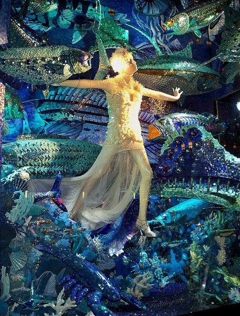 "Carnival of the Animals: ""Testing the Waters"" A Bergdorf Goodman window display"