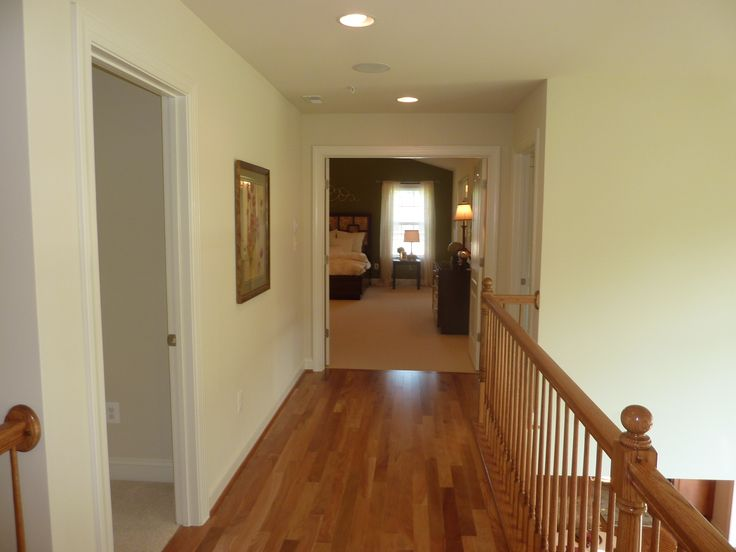 upstairs hallway grandview haven subdivision model home