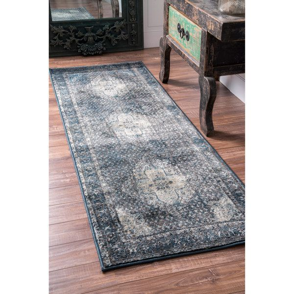 nuLOOM Traditional Vintage Fancy Blue Runner Rug (2'8 x 8') | Overstock.com Shopping - The Best Deals on Runner Rugs