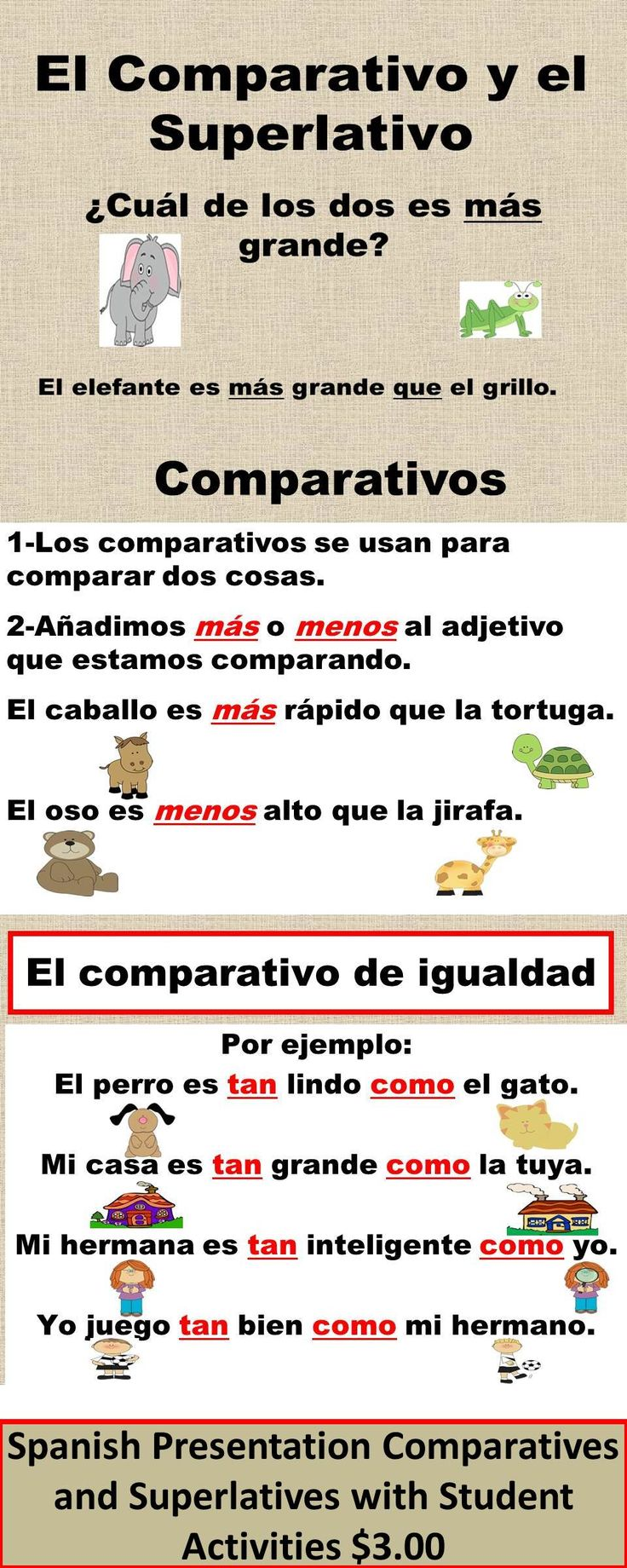 #Comparativos y #Superlativos en la clase de #ELE