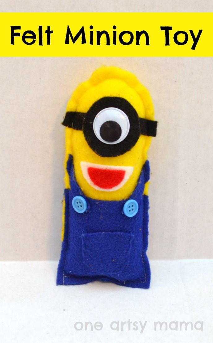 Want a friend that will stick with you wherever you go? Here's a crafty felt minion you can create by clicking on the image for instructions.