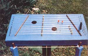 You can build a hammered dulcimer with a clear, brilliant voice from readily-available materials and using building skills that are little different from those required to build a box.