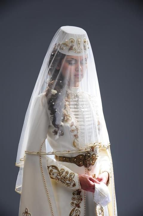 Traditional bride dress from North Ossetia-Alania (Russia)