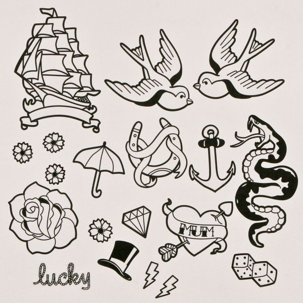 Image Result For Simple Black And White Tattoo Flash Inspirational Tattoos Flash Tattoo Tattoo Flash Art