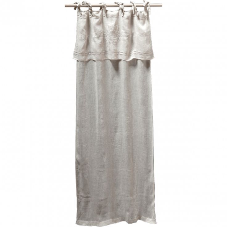 Pom Pom At Home Classica Tie Top Linen Voile Curtain Panel