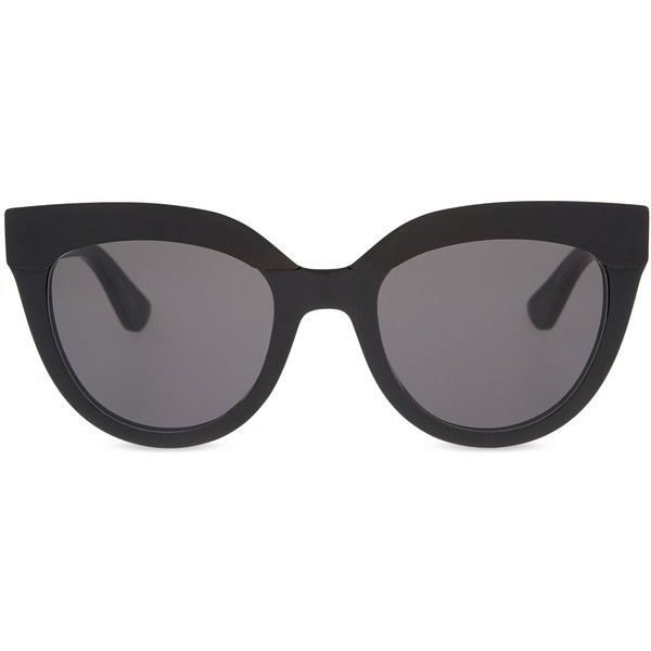 DIOR Black cat-eye sunglasses found on Polyvore featuring accessories, eyewear, sunglasses, glasses, sunnies, cat-eye glasses, christian dior eyewear, lens glasses, christian dior and cat eye glasses