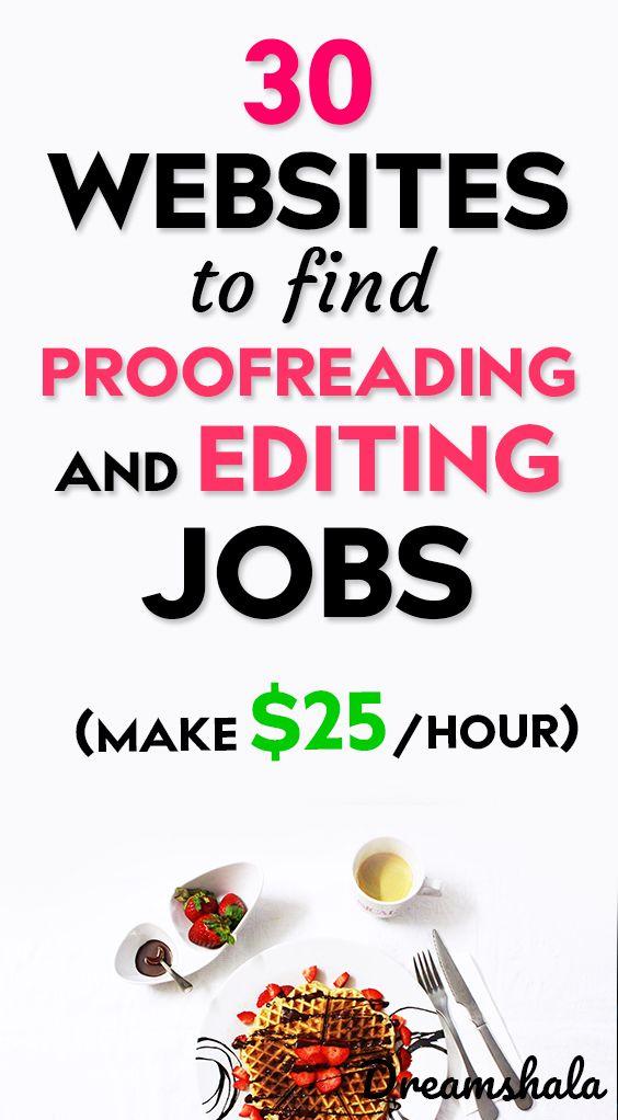 30 websites to find proofreading and editing jobs. Make $25 per hour. – Siva | Dreamshala | Blogging, Social Media, Online Marketing Updates, WAH Jobs.