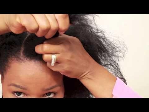 Dutch Braid (Inverted French Braid) Braiding Hair Tutorial on Natural Hair - YouTube