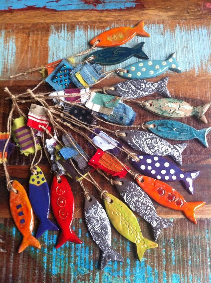 Colourful ceramic. What wonderful little fishes...