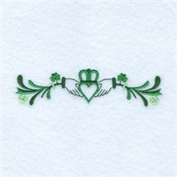Irish Claddagh Line embroidery design