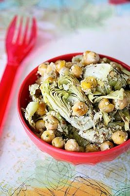 Artichoke and Chickpea Salad- I literally eat this for breakfast, lunch and dinner. Throw some tuna with it for extra protein!