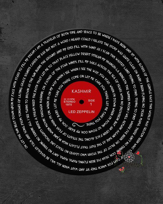 Led Zeppelin Kashmir Vinyl Design Kashmir Lyrics Led Zeppelin