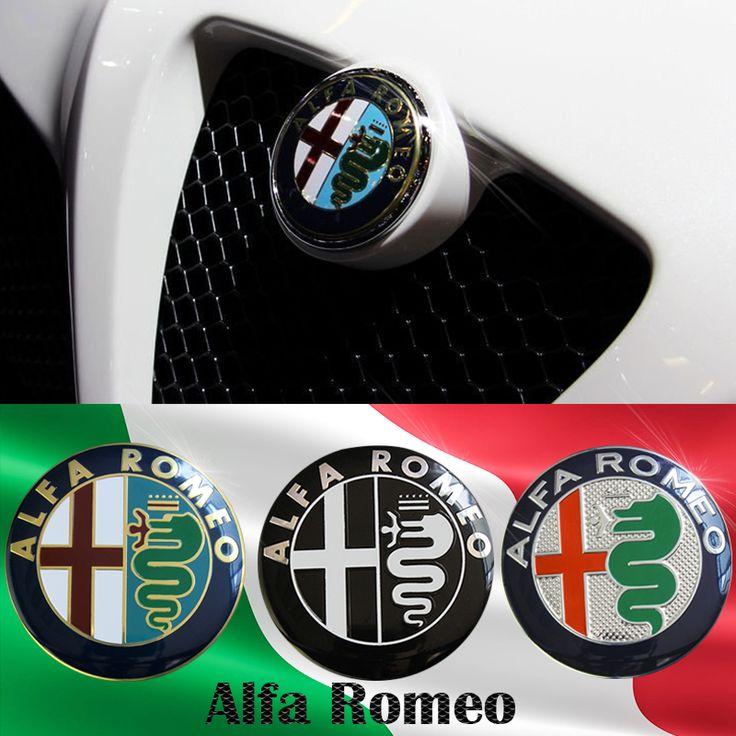 """2 יחידות משלוח חינם מכירה מיוחד שחור לבן צבע 74 מ""""מ 7.4 ס""""מ אלפא רומיאו לוגו רכב סמל תג מדבקה עבור מיטו 147 156 159 166"""