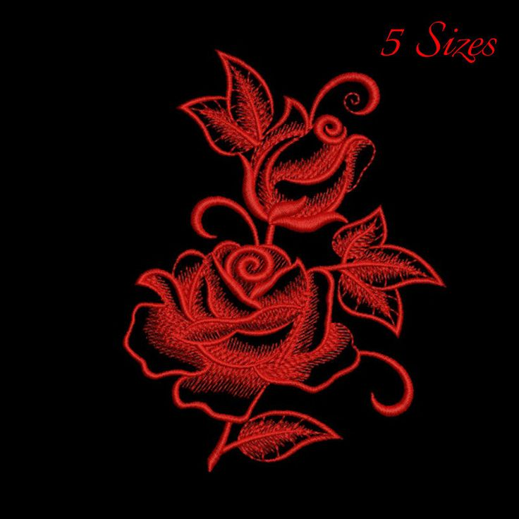 Rose embroidery design,Flowers pattern,instant download,Flower machine embroidery,design,digital download by GretaembroideryShop on Etsy