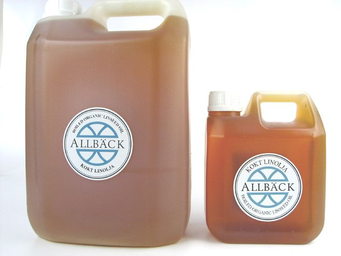 Purified Boiled Linseed Oil   100% Organic. Purified boiled linseed oil from Allback.