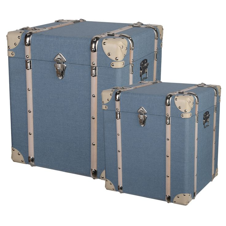 Set 2 Storage Cubes In Pale Blue  AE770