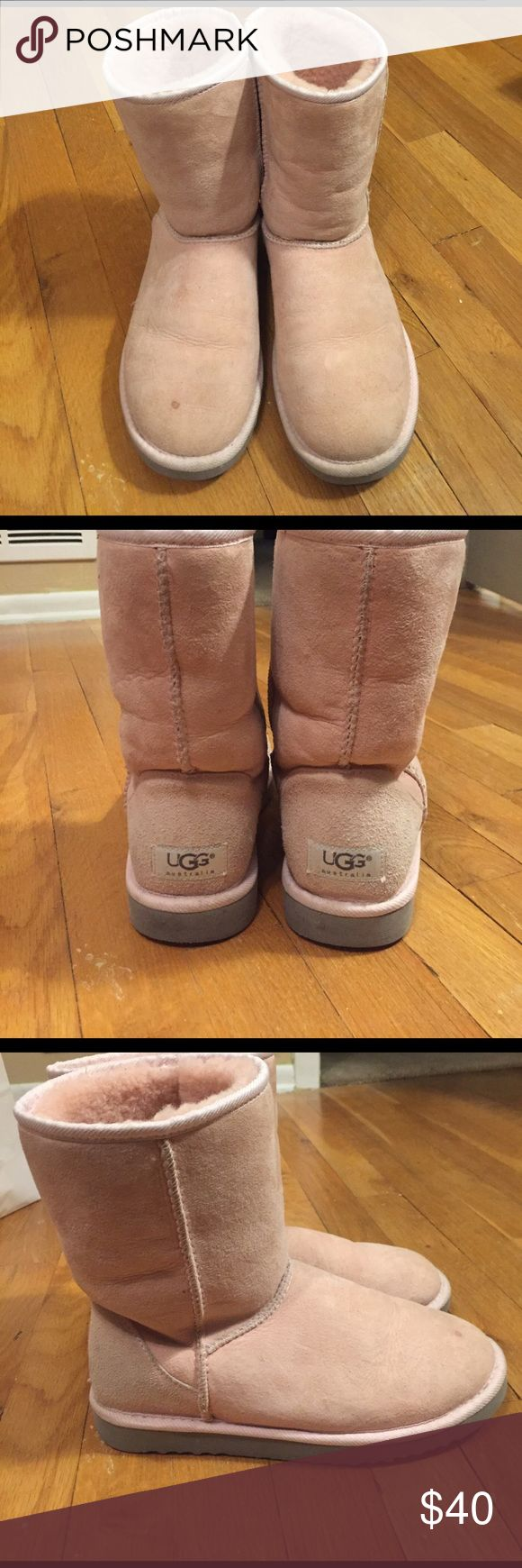 Selling this Baby Pink Classic Short UGGs on Poshmark! My username is: jenglickman. #shopmycloset #poshmark #fashion #shopping #style #forsale #UGG #Shoes