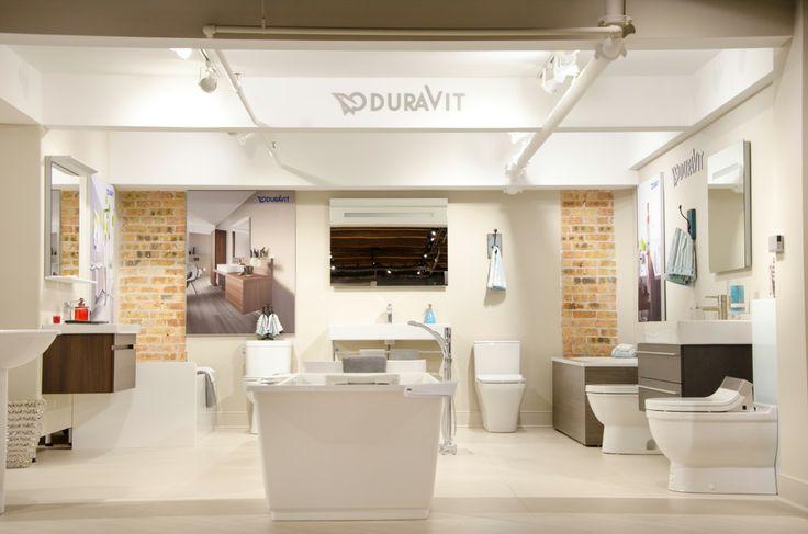 Duravit bathroom displays plumbing fixtures faucets