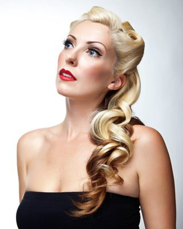 retro wedding hairstyles for long hair | Back to Post :45 Vintage Hairstyles for Long Hair